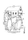 Malvorlage  neues Haus