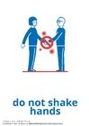 Malvorlage  nicht die Hände schütteln