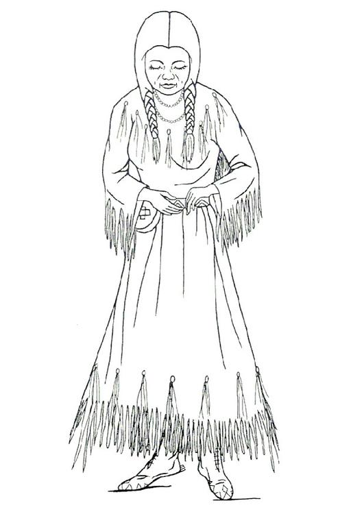 Malvorlage Nimiipu Frau Ausmalbild 9910
