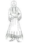 Malvorlage  Nimiipu Frau