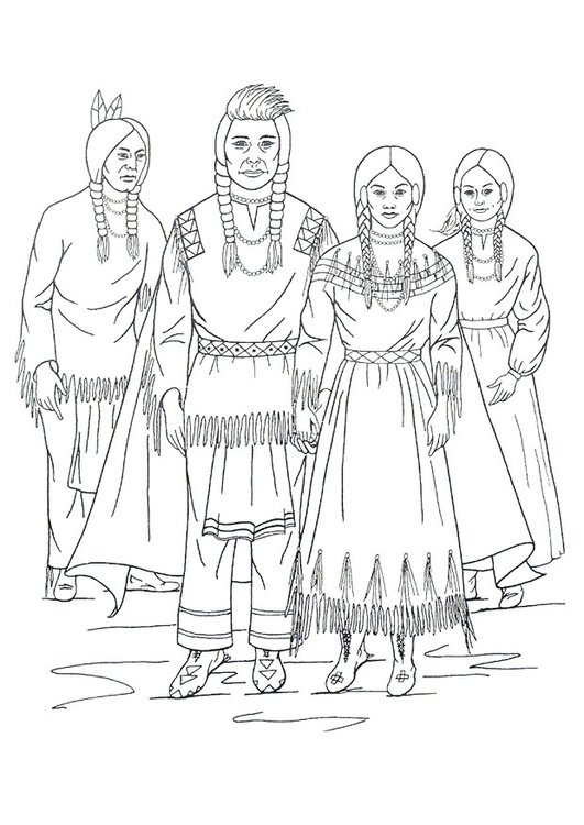 Malvorlage Nimiipu Indianer Ausmalbild 18250