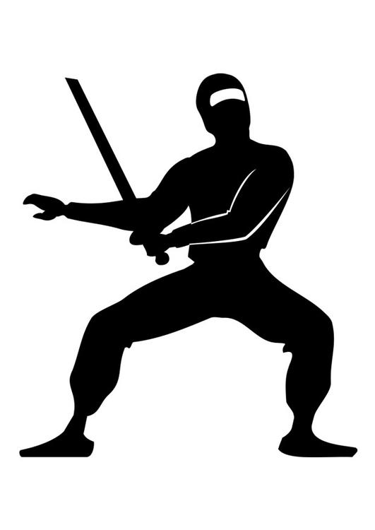 Malvorlage Ninja Ausmalbild 26217