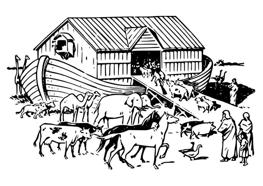 Malvorlage Noah\'s Arche | Ausmalbild 29136.