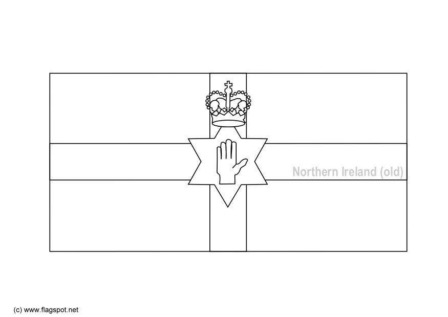 Malvorlage Nordirland - alt -   Ausmalbild 6156.