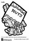 Malvorlage  Nüsse