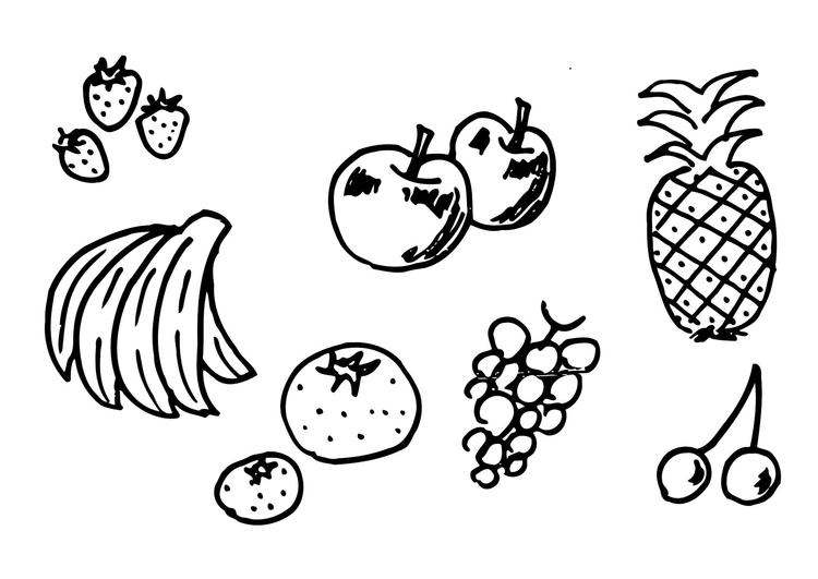 Malvorlage Obst | Ausmalbild 12300.