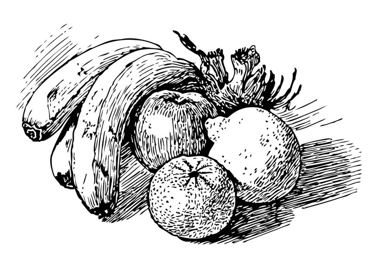 Malvorlage Obst Ausmalbild 17350