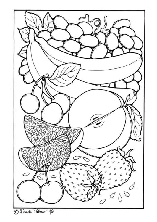 Malvorlage Obst Ausmalbild 9210