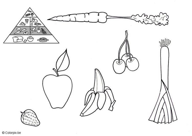 Malvorlage Obst und Gemüse | Ausmalbild 5675.