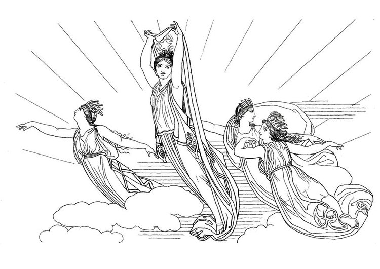Malvorlage Odysseus - Circe | Ausmalbild 17490.