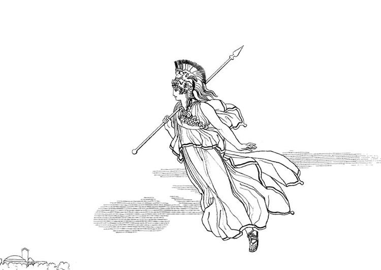 Malvorlage Odysseus - Minerva | Ausmalbild 17487.