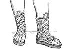 Malvorlage  offener Stiefel - Griechen und Römer