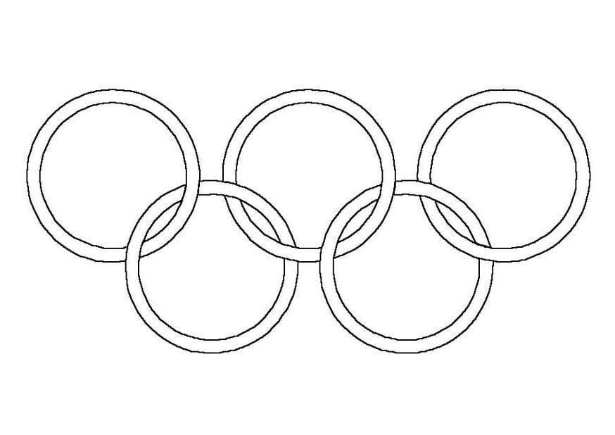 Malvorlage Olympische Ringe   Ausmalbild 12016.