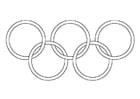 Malvorlage  Olympische Ringe