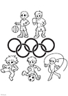 Malvorlage  Olympische Spiele