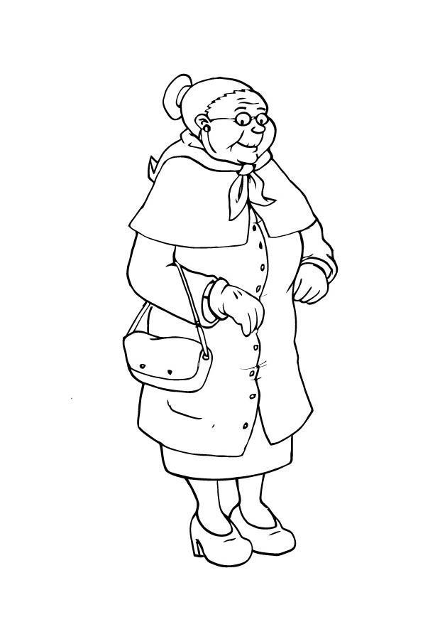 Malvorlage Oma | Ausmalbild 23107.