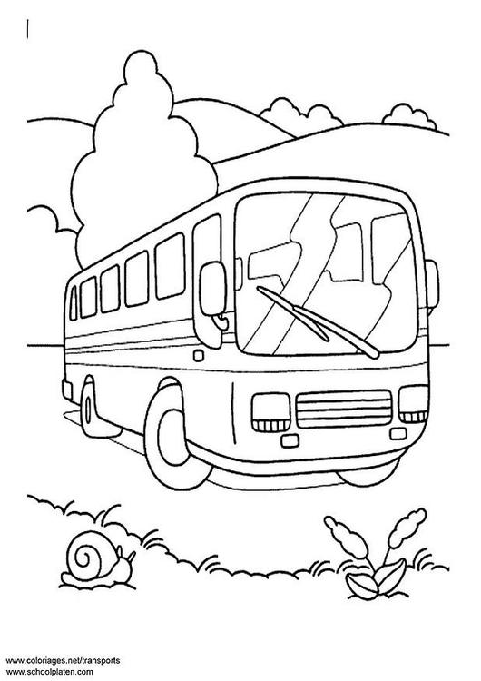 Malvorlage Omnibus Ausmalbild 3089