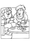 Malvorlage  Opta und Oma