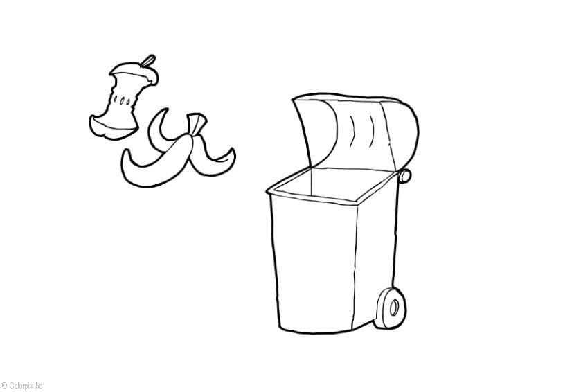malvorlage organischer abfall  kostenlose ausmalbilder