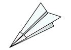 Malvorlage  Origami - Flugzeug