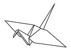 Malvorlage  Origami