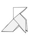 Malvorlage  Origami - Vogel