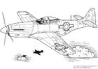 Malvorlage  P-51 Mustang