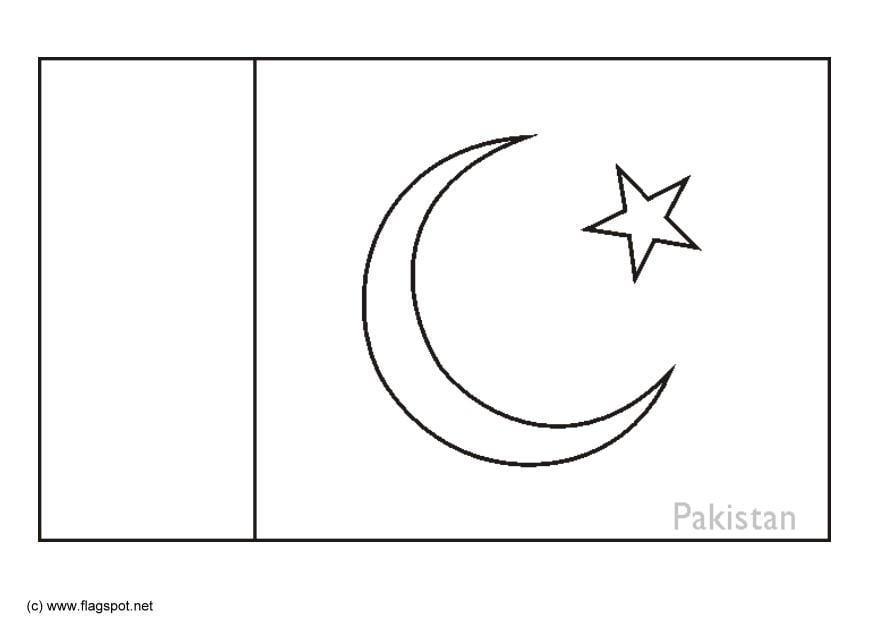 Malvorlage Pakistan | Ausmalbild 6303.