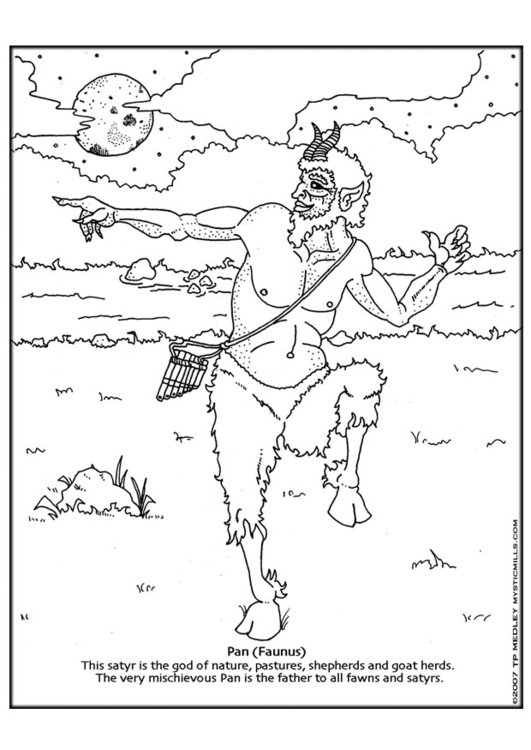 Malvorlage Pan | Ausmalbild 18610.