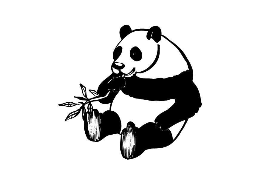 Kleurplaat Van Engelen Malvorlage Panda Ausmalbild 10434
