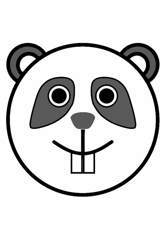 Malvorlage Panda Ausmalbild 19486