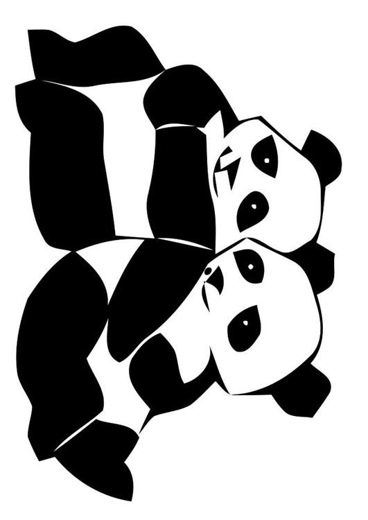 Malvorlage Pandabären Ausmalbild 19629