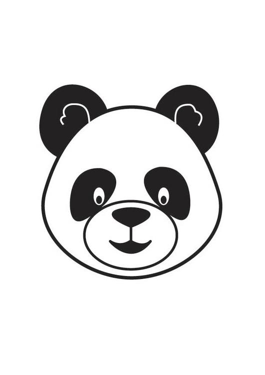 malvorlage pandakopf  kostenlose ausmalbilder zum ausdrucken