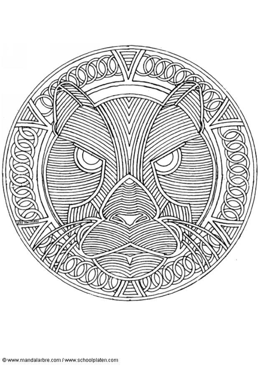 Malvorlage Panther Ausmalbild 4550