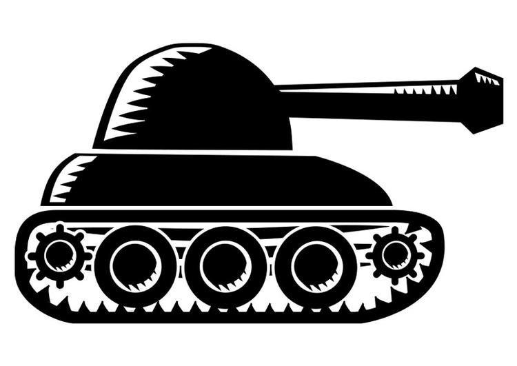Malvorlage Panzer | Ausmalbild 22517.