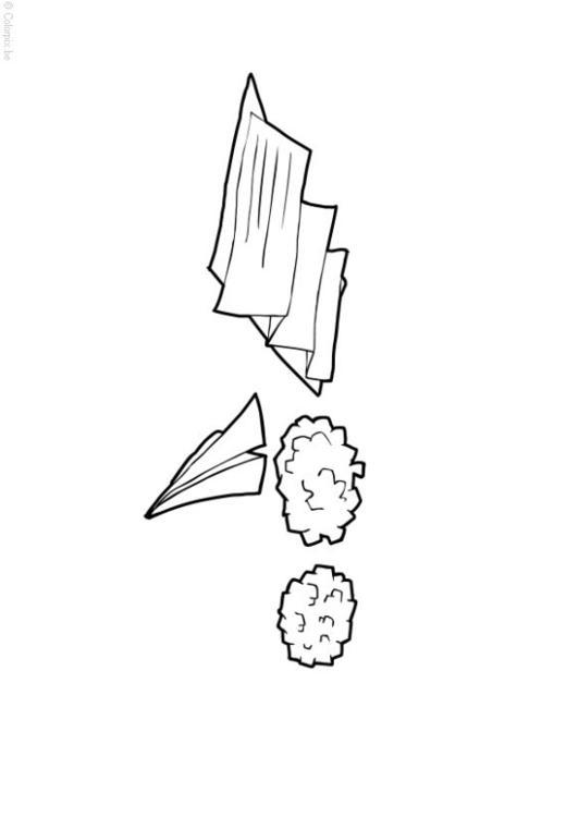 Malvorlage Papier und Karton | Ausmalbild 14409.
