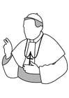 Malvorlage  Papst