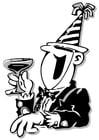 Malvorlage  Partygast