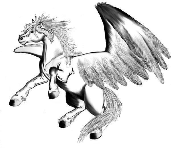 Kleurplaten Paarden Voor Volwassenen Malvorlage Pegasus Ausmalbild 16039