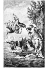 Malvorlage  Perseus und Andromeda