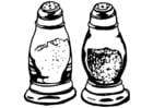 Malvorlage  Pfeffer- und Salzstreuer