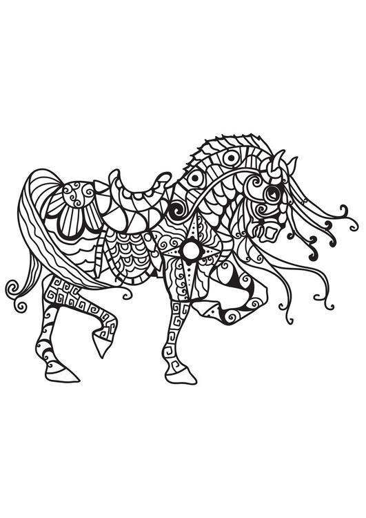malvorlage pferd des ritters  kostenlose ausmalbilder zum