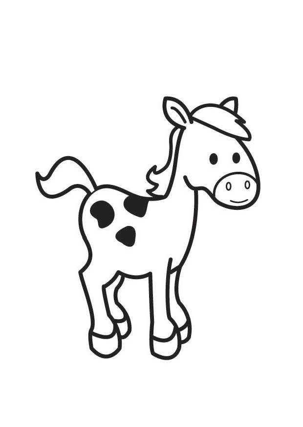 Malvorlage Pferd | Ausmalbild 18415.
