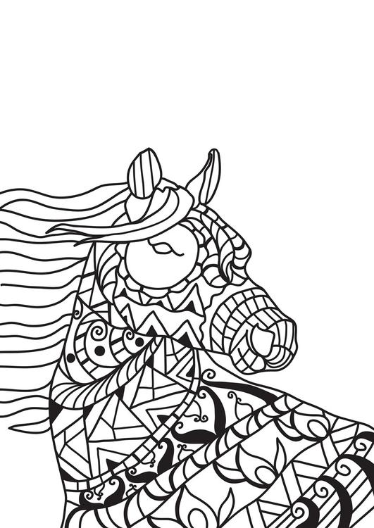 malvorlage pferd im wind - kostenlose ausmalbilder zum