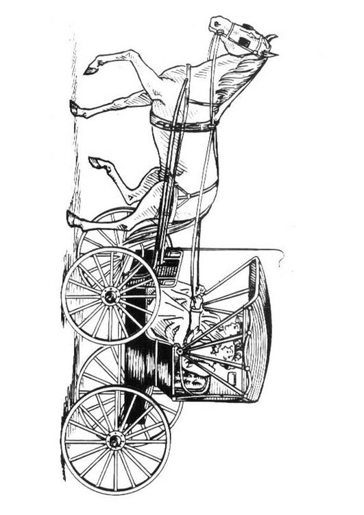 Malvorlage Pferd Mit Kutsche Ausmalbild 18982