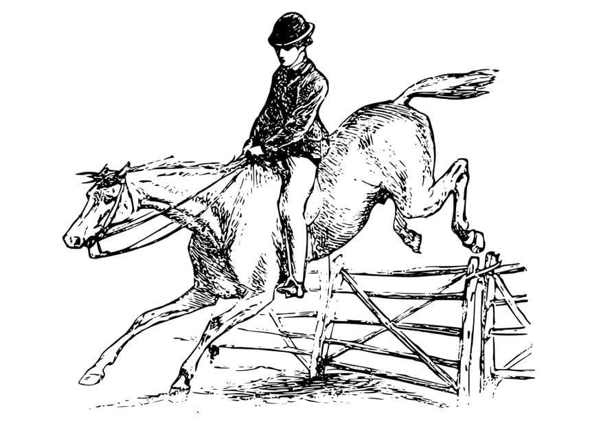 Malvorlage Pferd Mit Reiter Ausmalbild 27894