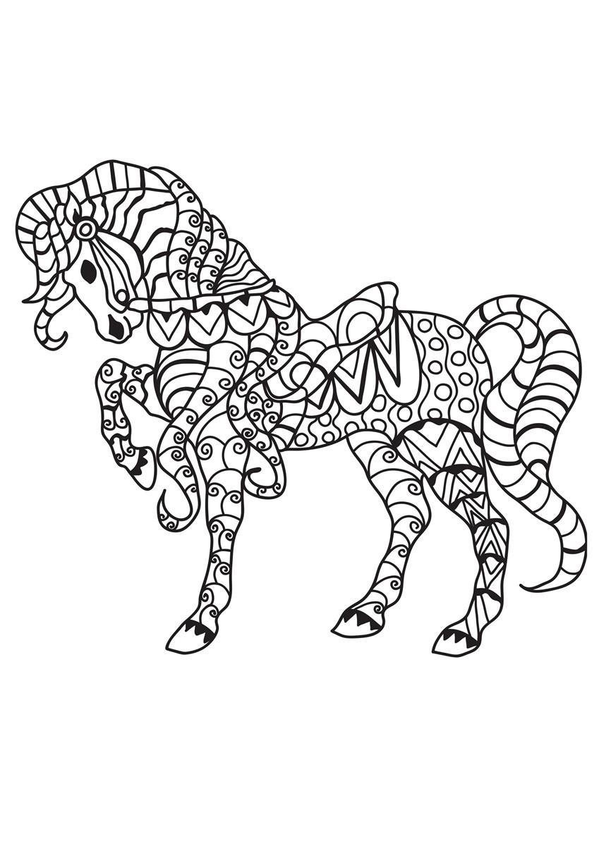 malvorlage pferd mit sattel  kostenlose ausmalbilder zum