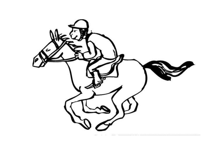 Malvorlage Pferd Reiten Ausmalbild 10130 Images