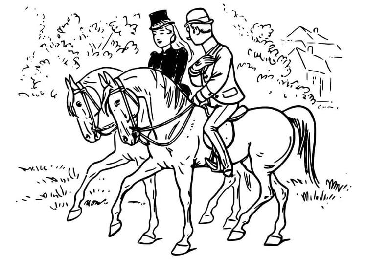 Malvorlage Pferd Reiten Kostenlose Ausmalbilder Zum Ausdrucken