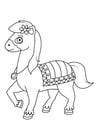 Malvorlage  Pferd unterwegs